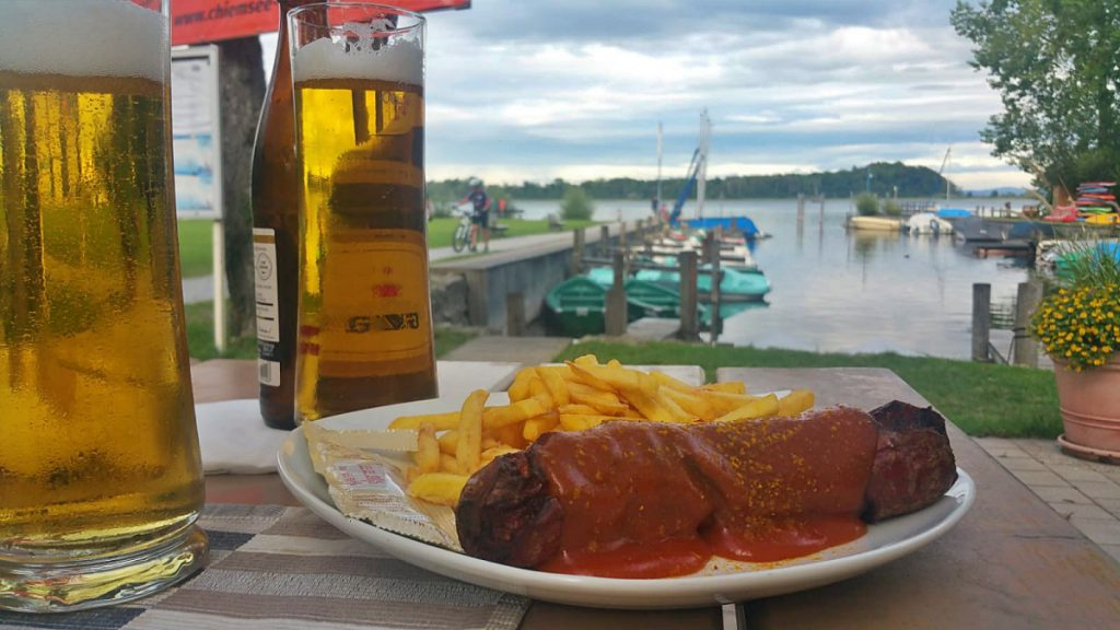 cena con vista lago