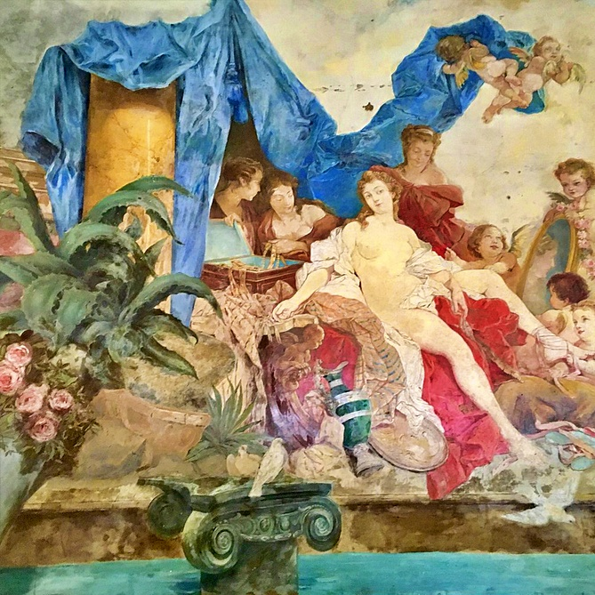 dipinto stanza da bagno del re