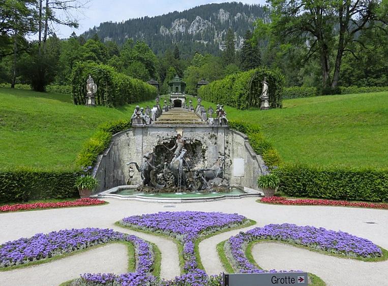 giardini di Linderhof, i castelli della baviera