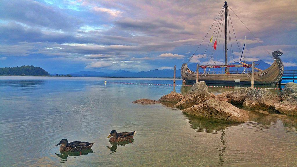 viste sul lago Chiemsee