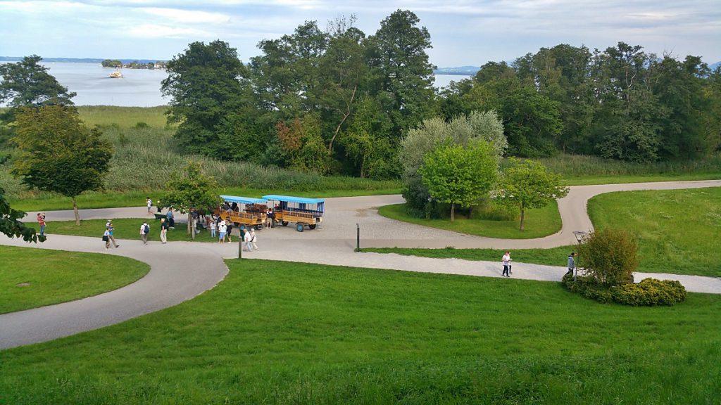 Il castello di Herrenchiemsee, parco e viste