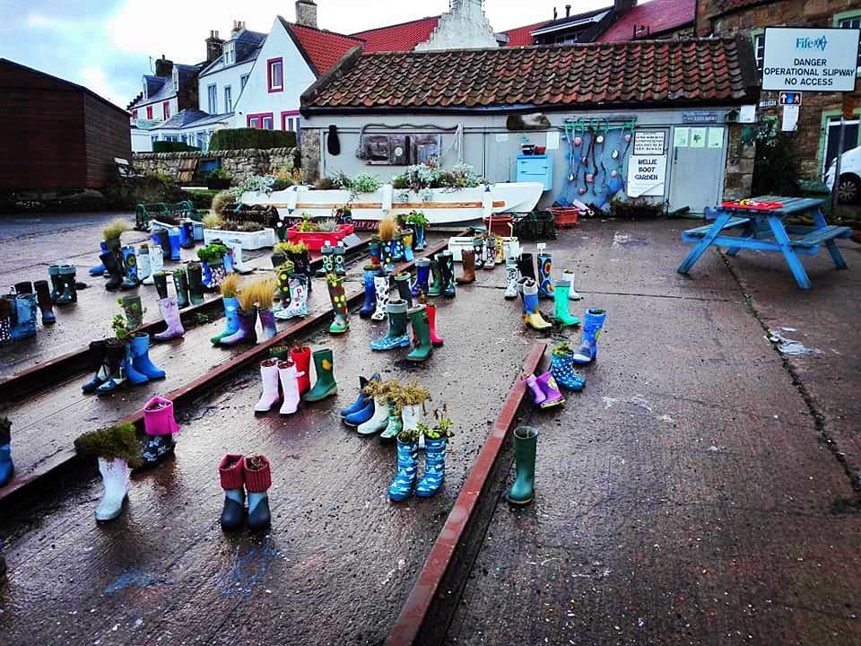 wellie boot garden