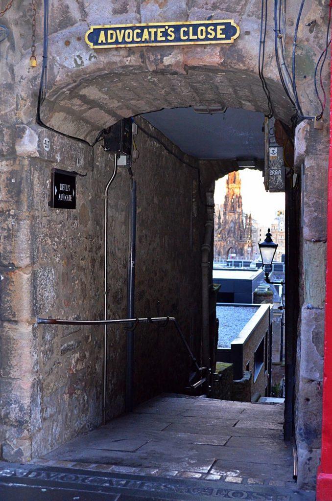advocate's close - luoghi più infestati di Edimburgo