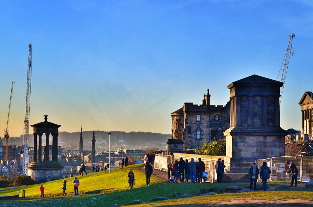 calton hill, the city observatory