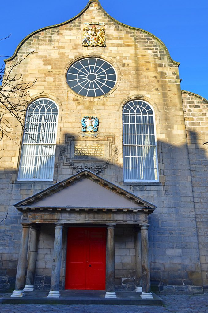 canongate kirk, facciata chiesa