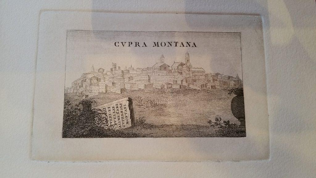 Cartolina antica di cupramontana