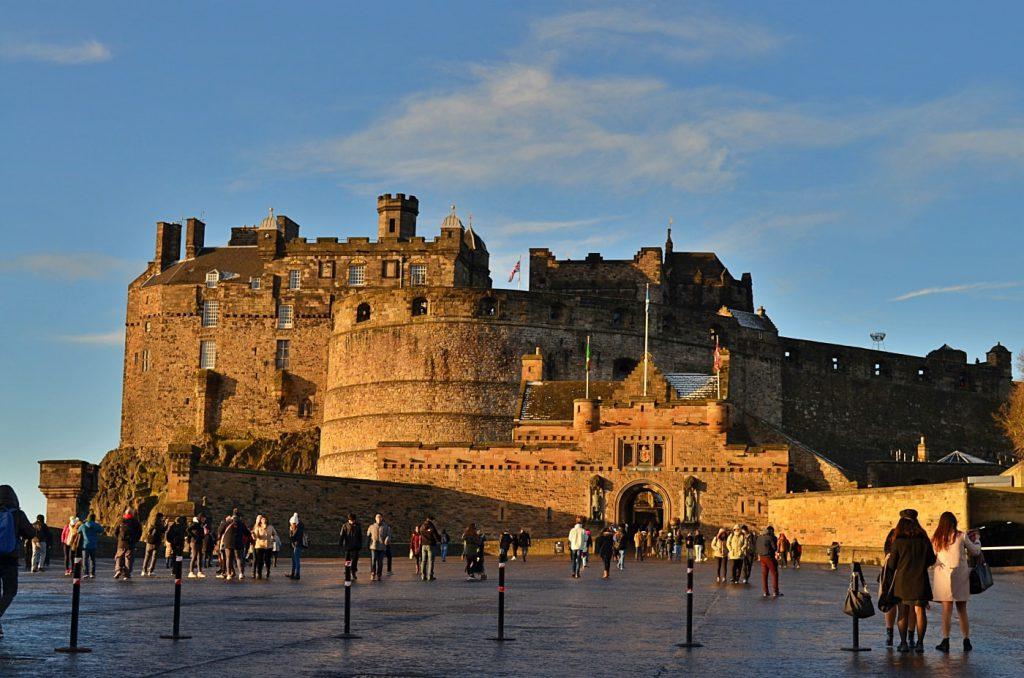 Royal Mile di Edimburgo, il castello di Edimburgo, foto di edimburgo