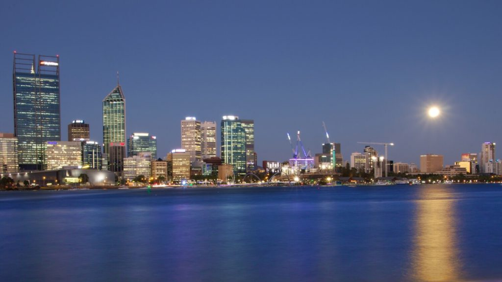 perth and moon
