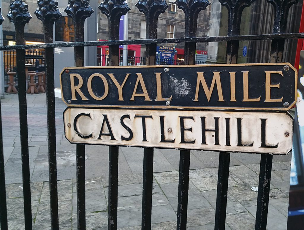 Royal Mile di Edimburgo - castlehill