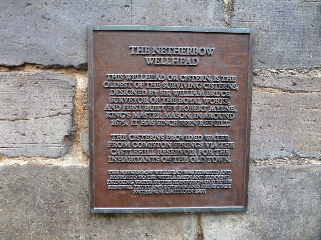 the netherbow wellhead, edimburgo