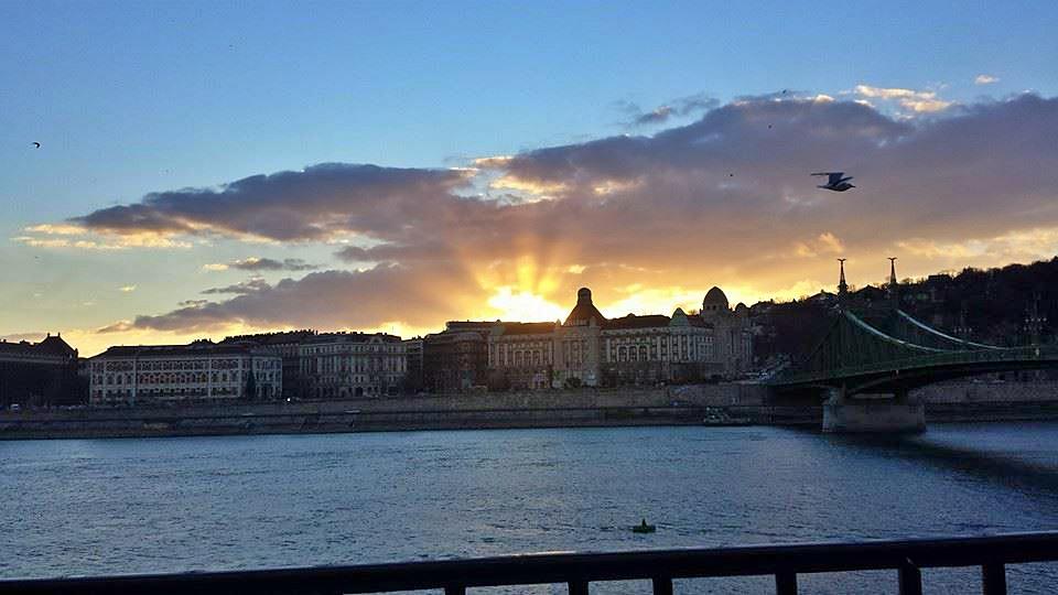 tramonto su gellert