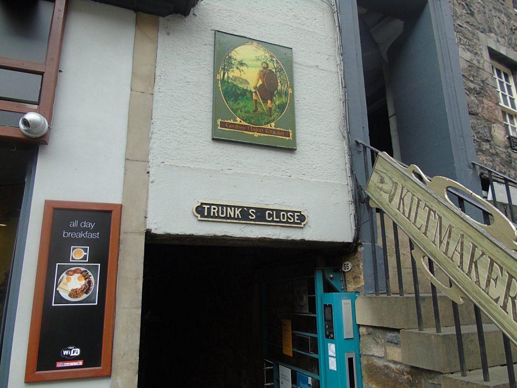 trunk's close - Royal Mile di Edimburgo