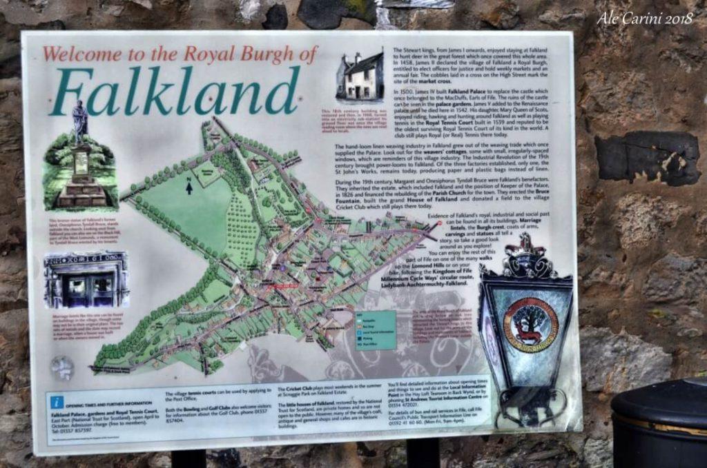 mappa del borgo reale di Falkland