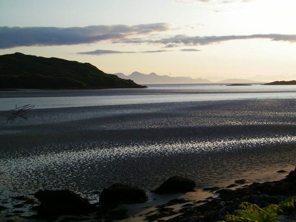 silver sand of Morar - Road to the isles - scozia