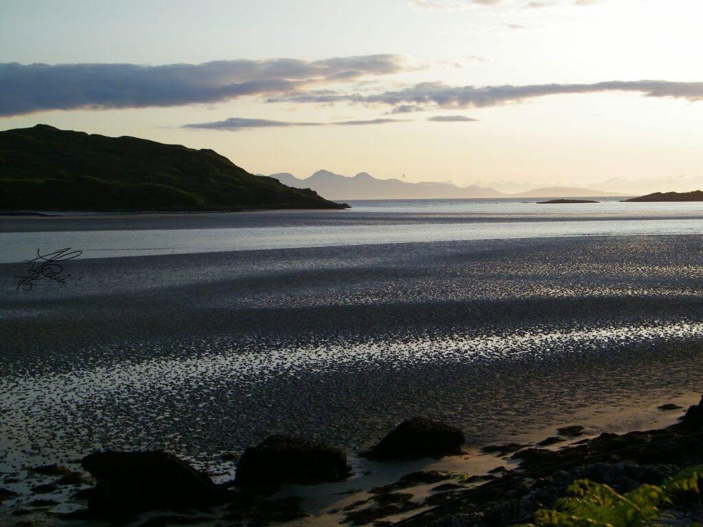 tramonto sulle silver sand of Morar
