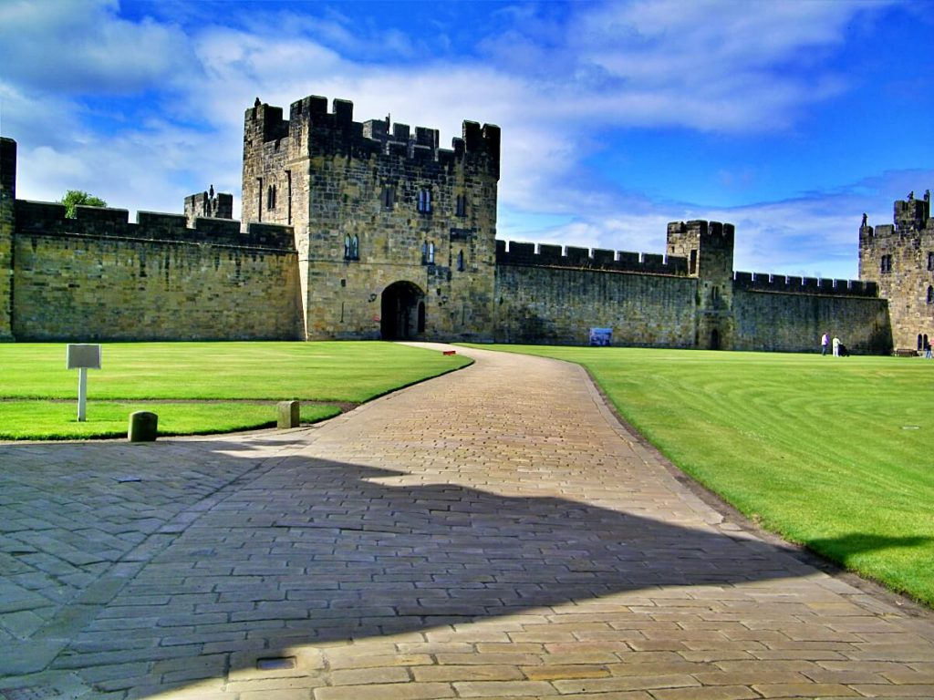 Alnwick castle, location del film di harry potter