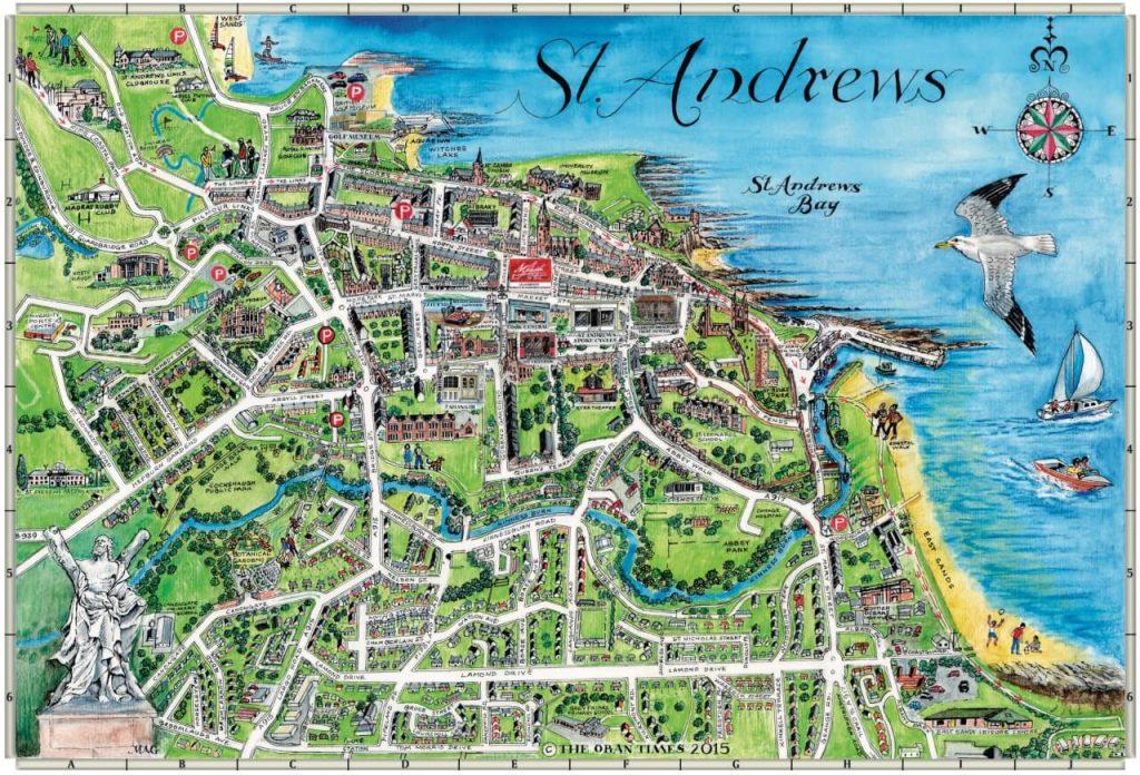 mappa di saint andrews scozia