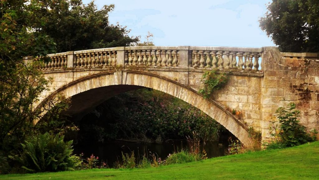 pollock park, ponte di pietra
