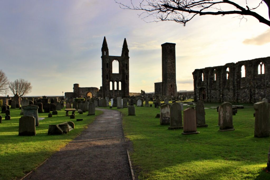 la cattedrale di saint andrews, saint andrews cathedral scozia