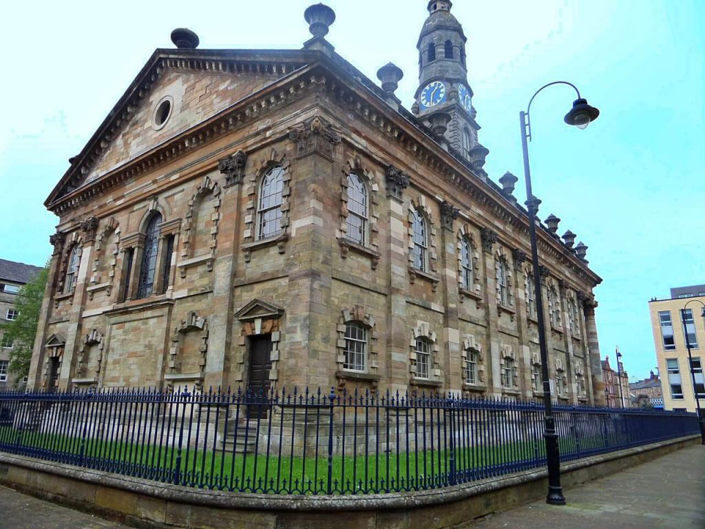 Locations di Outlander a Glasgow, st andrews in the square