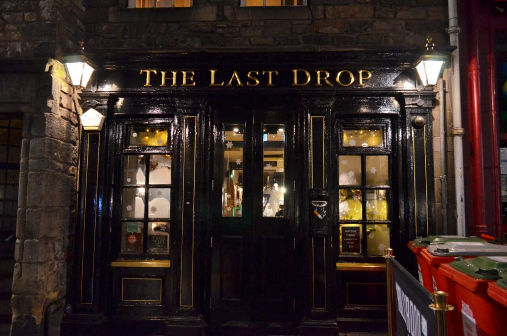 the last drop - edimburgo pub