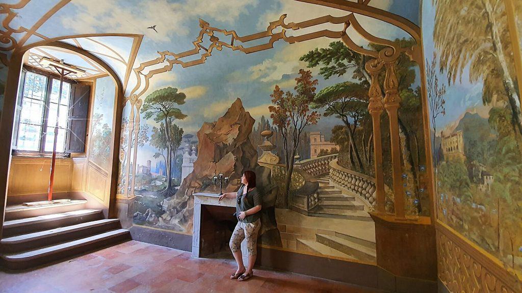 sala delle tenute palazzo bandini, abbazia di fiastra