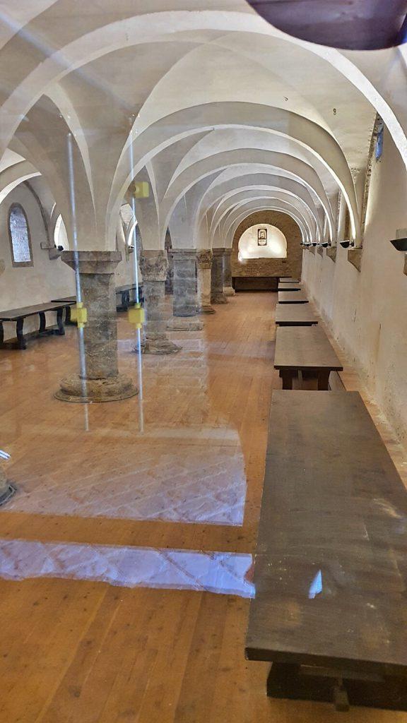 refettorio dei conversi, abbazia di fiastra macerata