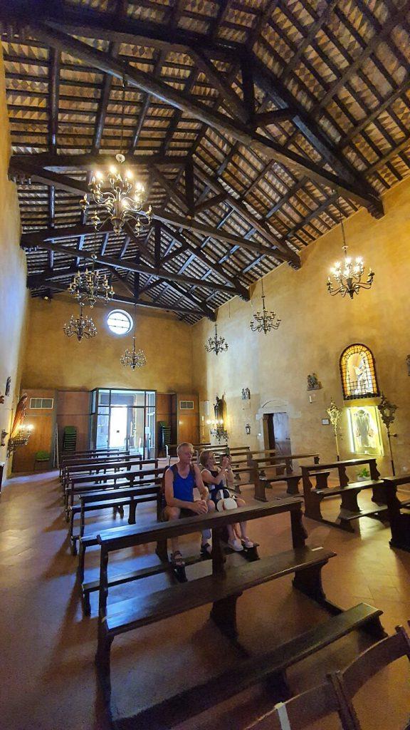 interno del tempio di sant agostino, torre di palme