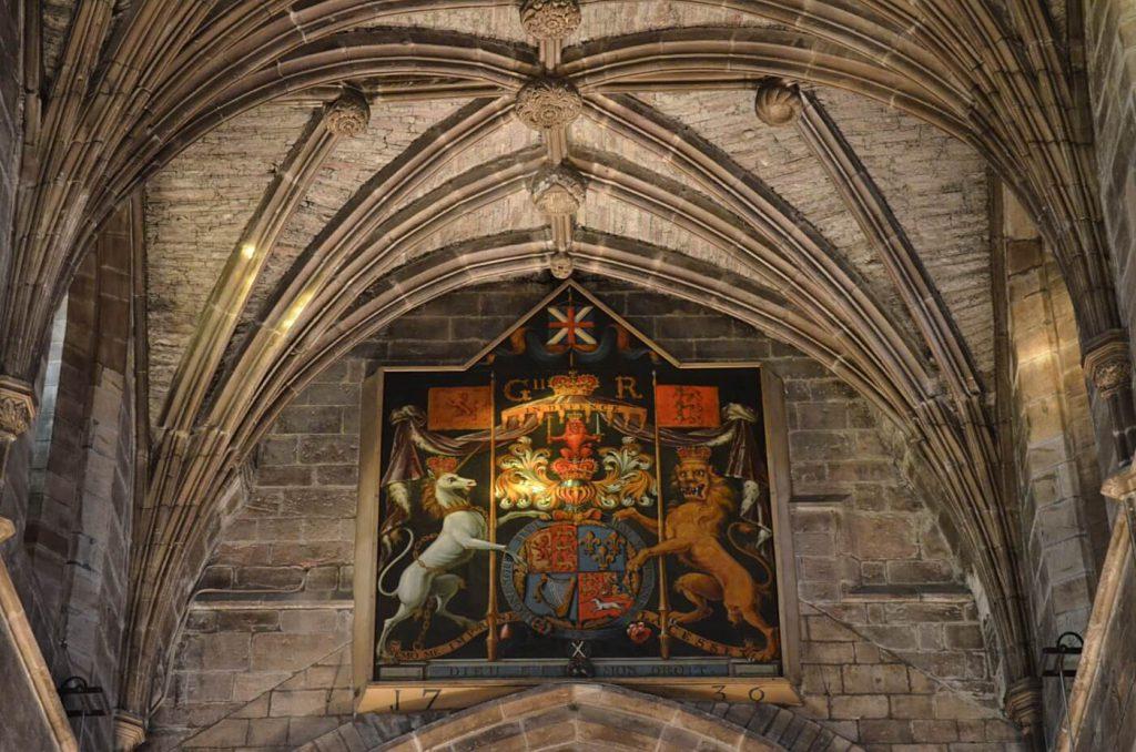 lo stemma di re giorgio II - saint giles - saint giles cathedral
