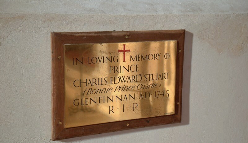 glenfinnan church - bonnie prince charlie