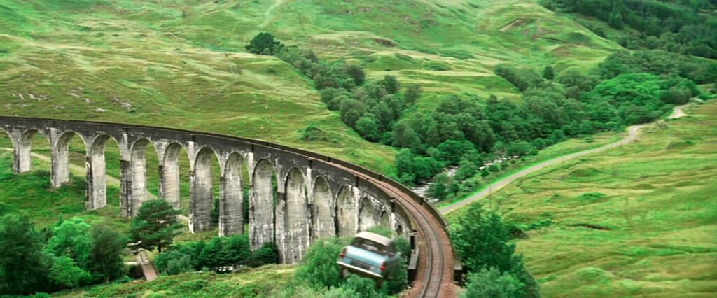 harry potter scozia - macchina volante harry potter - locations harry potter scozia - scozia hogwarts
