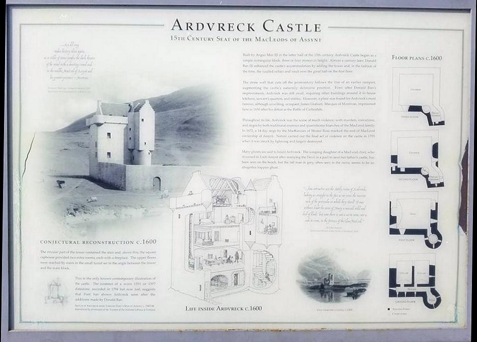 ardvrech castle - mappa e cartins
