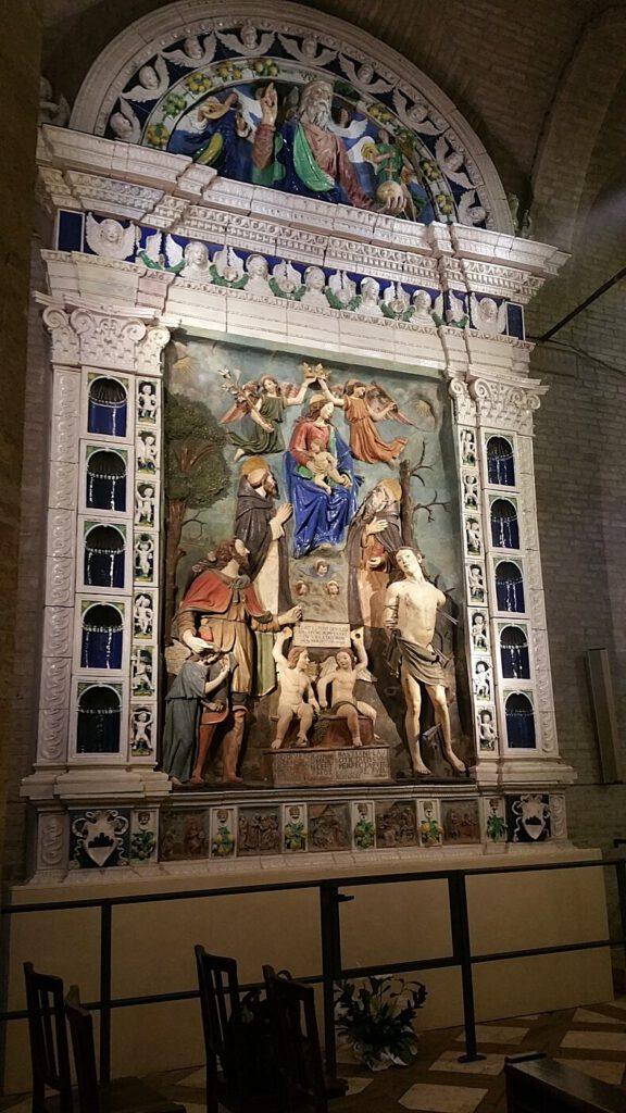 pala d'altare mattia della robbia - collegiata santa maria assunta