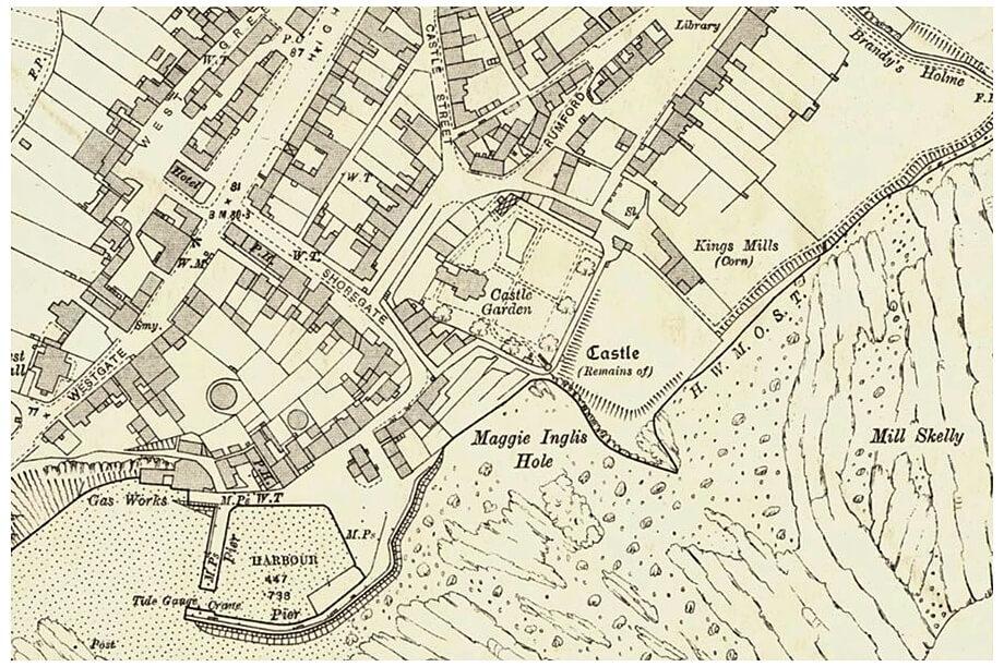 mappa di crail - mappa storica di crail