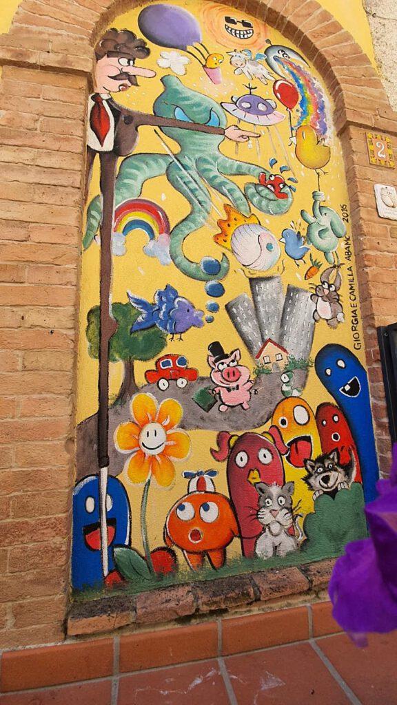 braccano il paese dei murales, boghi marche