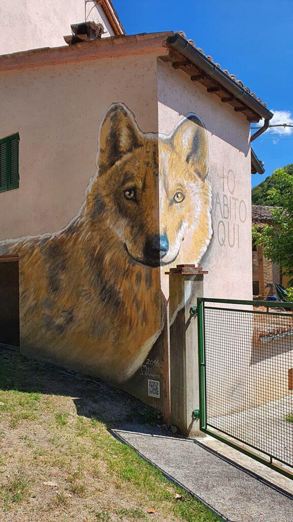 murales braccano, borghi dipinti marche