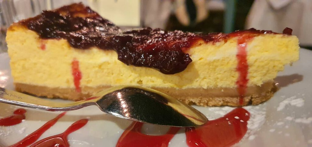 cheese cake, taverna dell'artista montelupone