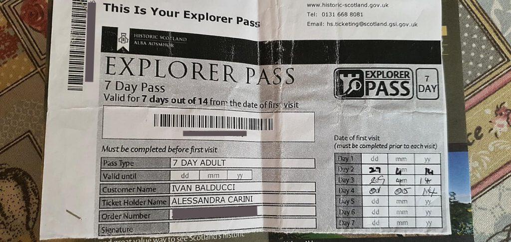 explorer pass, explorer pass scozia